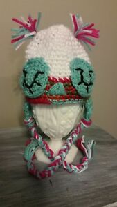Newborn Baby Girl 0-6 months Crochet Sleeping Owl Hat Purple ... 50c5c914724a