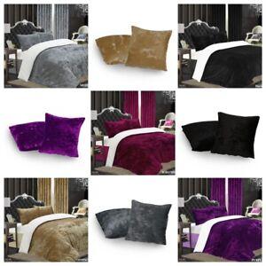 Park Lane Luxury Crushed Velvet Duvet Cover Bedding Set