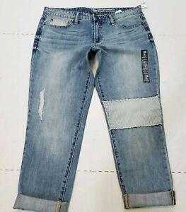 Gap-Womens-Jeans-6-28-W32-Sexy-Boyfriend-Fit-Relaxed-Straight-Destruct-Cuff-Crop