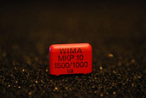 4 x WIMA mkp10 1.5nf 1500pf 1000vdc 600vac 10/% Capacitor MKP 1 o 111503 C 00 kssd