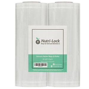 """BPA-Free FDA Vacuum Sealer Bags // Rolls 8/""""x50/' Foodsaver Style Saver bags"""