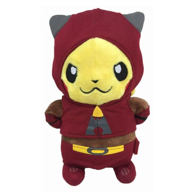 6pcs Pokemon Go PIKACHU Cosplay Team Magma Galactic Flare Rocket Plush Toy Doll