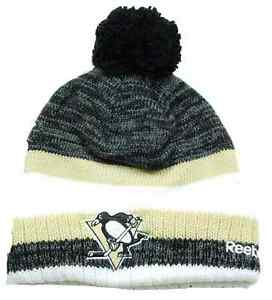 5215d0aa Pittsburgh Penguins Reebok KR68Z NHL Hockey Pom Pom Knit Hat Beanie ...