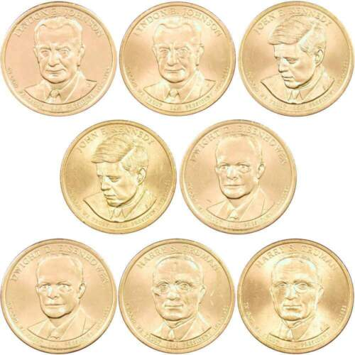 2015 P/&D $1 Presidential Dollar 8 Coin Set Lot Uncirculated Mint State