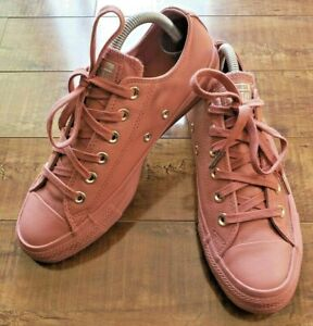 CONVERSE-Chuck-Taylor-All-Star-ALL-LEATHER-Ox-Low-PINK-SAND-Shoes-Women-8-Men-6