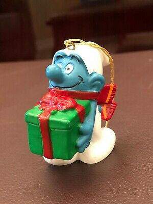 1981 Schleich Smurf Christmas Present Ornament Figure ...