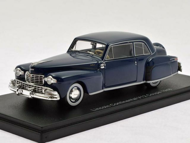 Wonderful Wonderful Wonderful NEO-resin-modelcar LINCOLN CONTINENTAL V12 COUPE 1948 - darkbluee -1 43 6b9270