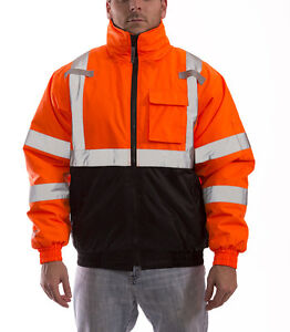 Tingley® Job Sight™ Orange Bomber II Jacket, Hi-Viz, ANSI Class 3, (J26119)