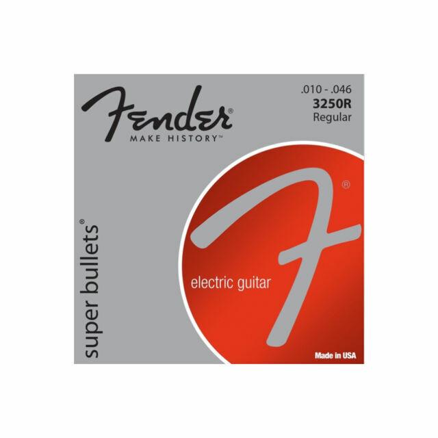 Fender 3250R Nickel Super Bullets Electric Guitar Strings 10-46 Regular Gauge