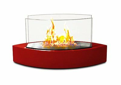 Anywhere Fireplace Red Lexington Tabletop Bio Ethanol Fuel Smoke Free In/Outdoor