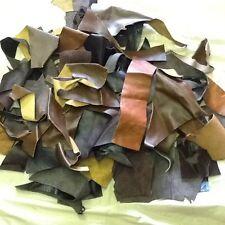 Suave piel de cuero de astillas scraps.mixed Marrones Y Fuego 1 Kilo