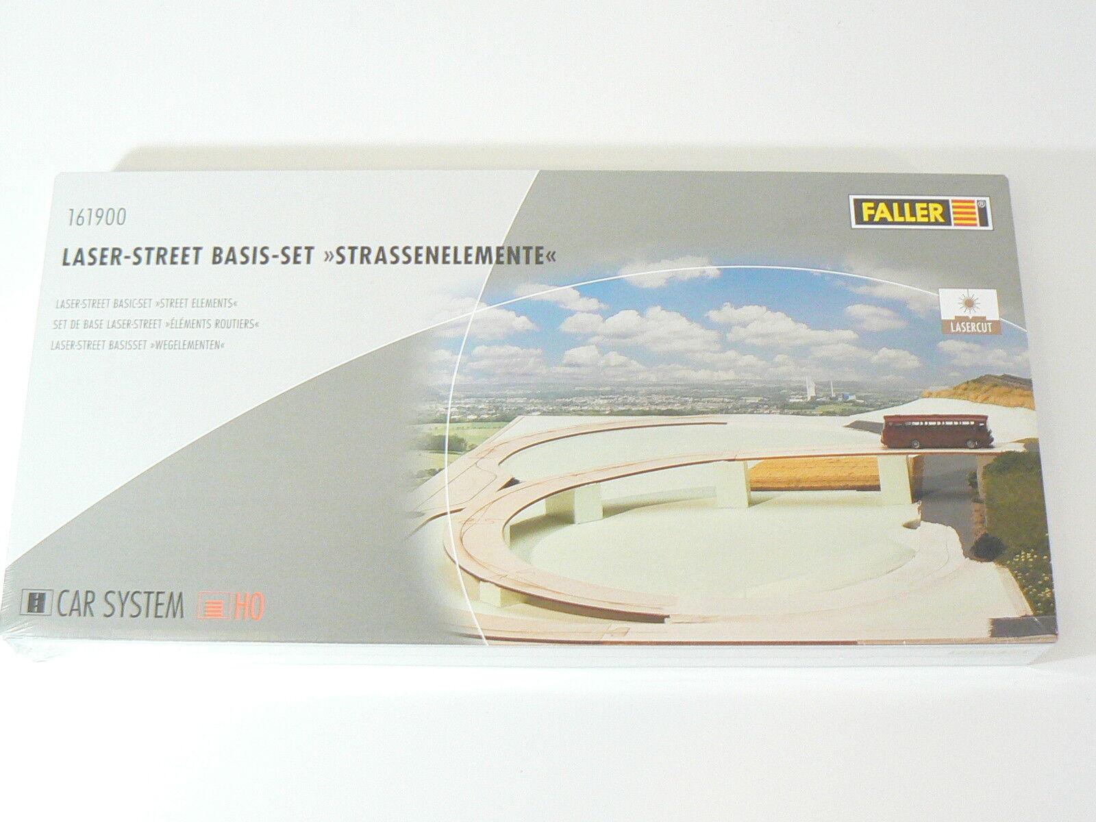 Faller h0 161900, Car System Set di base, gli elementi stradali, Nuovo, Confezione Originale