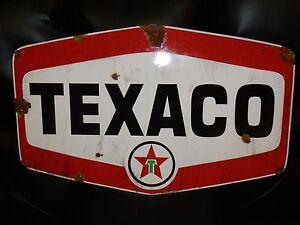 Antique-style-porcelain-look-Texaco-Star-dealer-service-gas-station-large-sign