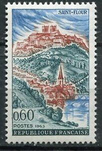 Architecture Timbre France Neuf Luxe °° N° 1392 ** Saint Flour Harmonious Colors Sincere Stamp