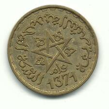 VERY NICE HIGH GRADE AU+ 1371 - 1952 MOROCCO 20 FRANC FRANCS COIN-JAN184