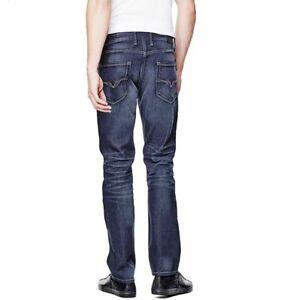 Durci Droit Jeans Men Guess Slim Bleu Lavᄄᆭ Bleu OnwPN8XZk0