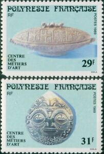 French-Polynesia-1989-Sc-503-504-SG553-554-Arts-and-Crafts-set-MNH