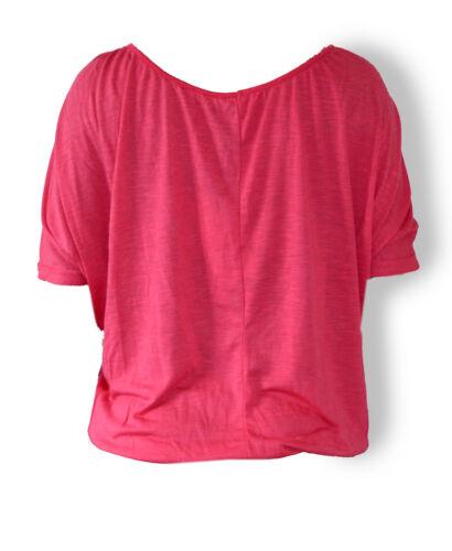XS-XL Damenoberteil Shirt Fledermausshirt weiß Sublevel pink,blau schwarz
