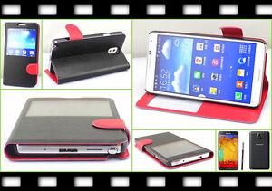 Flip Handy Tasche Samsung GALAXY Note 3 Cover S-View Case Schutz hülle Folie TOP