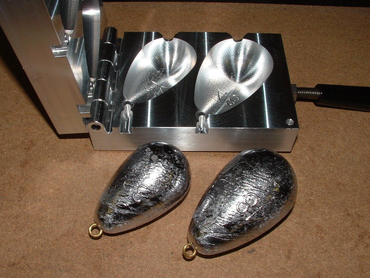 Saltwater Bel Sinker mold 32,48oz CNC Aluminum Wireline Trolling Bell
