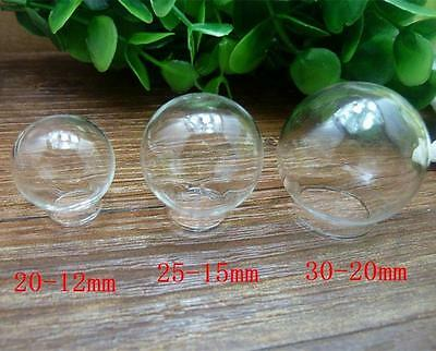 Charm Creative Jewelry Clear Glass Ball Bottles Vials Globe Cover For Diy PG08