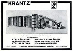 Maschinenfabrik-Krantz-Aachen-Reklame-1925-Werbung-Bleicherei-Faerberei