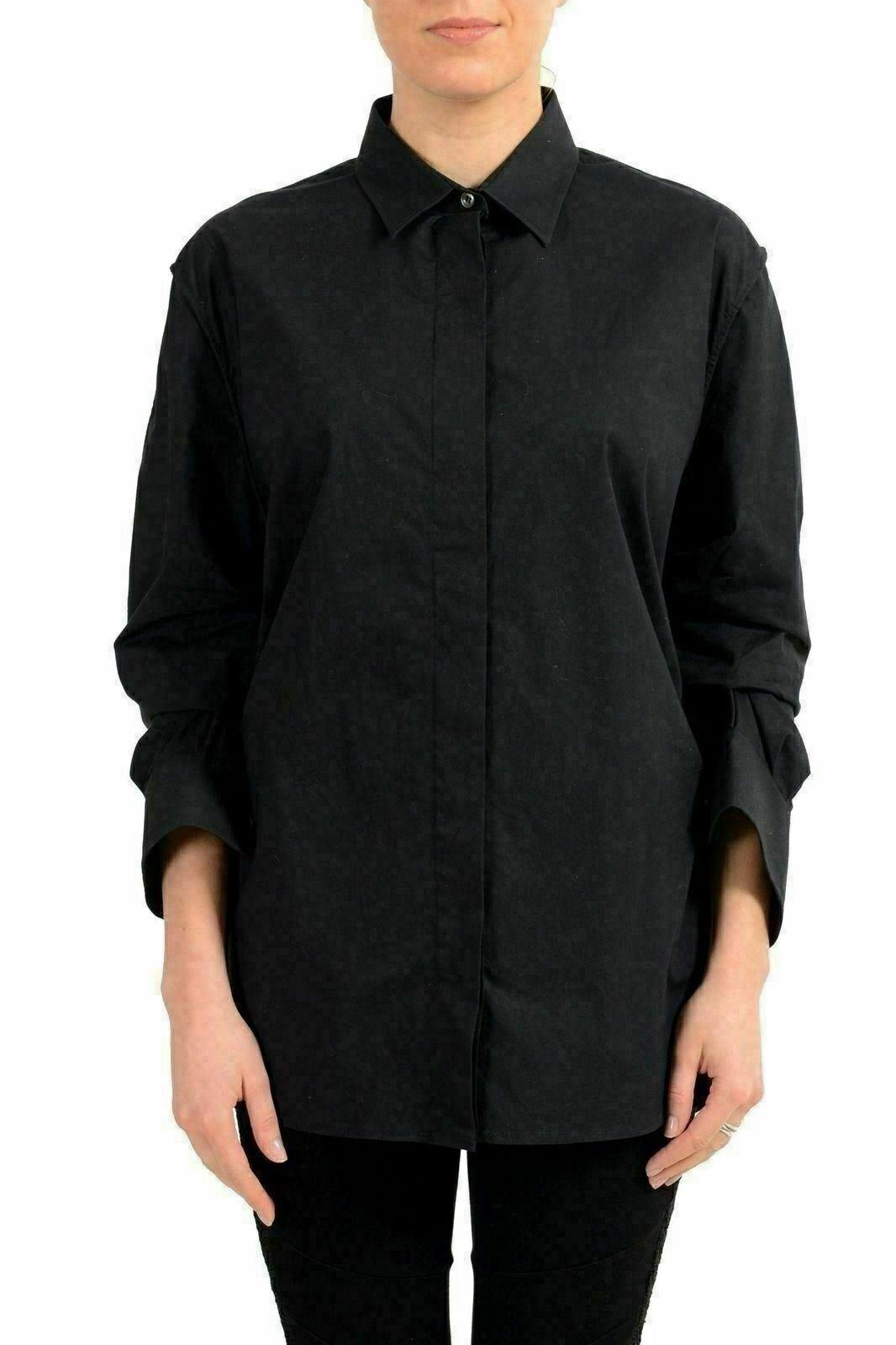 Maison Margiela 1 Damen Schwarz Geknöpftes Hemd S It 40