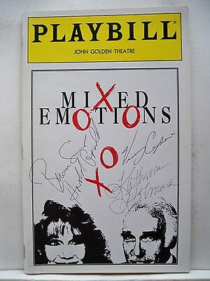 Harold Gould Autographed Nyc 1993 Beautiful And Charming Mixed Emotions Playbill Katherine Helmond Theater Autographs-original
