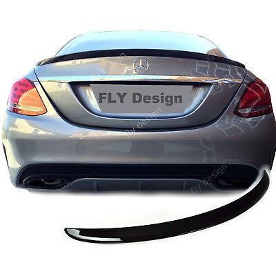 Mercedes W205 Obsidianschwarz 197 Heckspoilerlippe AMG Stil Spoiler LACKIERT