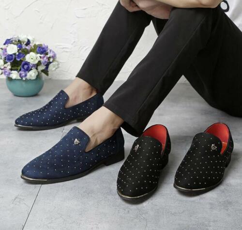 UK 5.5-9.5 Men/'s Slip On Studs Casual Shoes Loafers England Calzado Recreativo