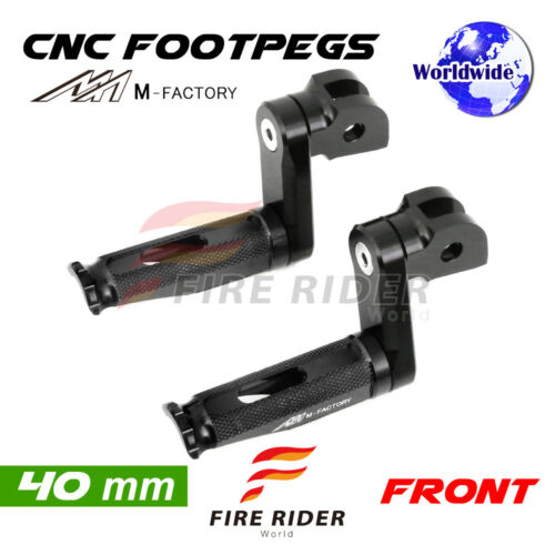 For Honda CBR 600 RR ABS 0317 08 09 10 40mm Riser BK CNC Billet Front Footpegs