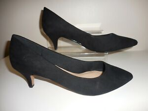 Black-Faux-Suede-Stiletto-Shoes-Size-UK-6-Wide-Fit-EEE-BNIB-From-Evans