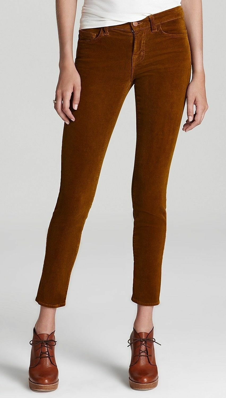 Nwt  J Brand 612 Low Rise Skinny Leg Corduroy Pants Jeans Cords Moss 24