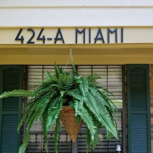 7 inch Art Deco House Numbers color choices