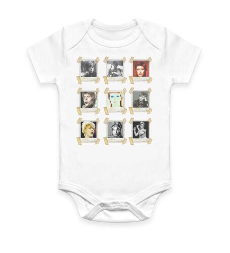 Funny David Bowie Faces Baby Grow Bodysuit Baby Suit Vest Ideal Gift Unisex 2203
