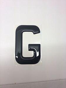 3D Gel Domed Digit Domed DIY Registration Reg Number Plate CARBON Letter 8