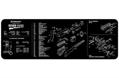 Ruger 10/22 1022 10-22 .22 Gun Cleaning Mat by TEKMAT Neoprene Rubber Backing