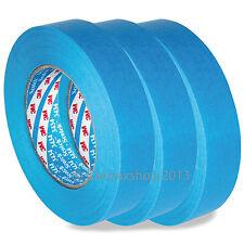 3 Rolls 3M 3434 25mm x 50m Scotch Blue Masking Tape Detailing Bodyshops