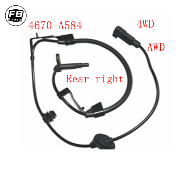 KARPAL Rear Left and Right ABS Wheel Speed Sensor Compatible With AWD Mitsubishi Lancer Outlander
