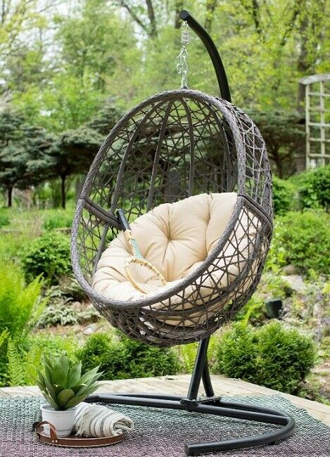 Uptown Club Harley Wicker Swing Chair With Stand For Sale Online Ebay