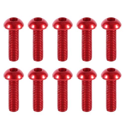 10PCS 6~12mm 7075 Aluminum Alloy Button Head Screws,Hex Socket Bolts Multi-Color
