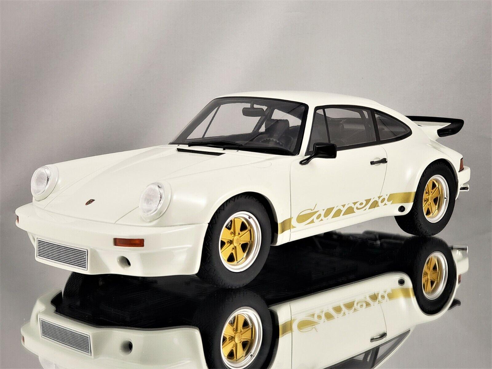GT Spirit Porsche 911 3.0 Carrera RS 1974 Blanc or Avec Résine Modèle 1 18