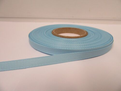 3mm 6mm 10mm 16mm 22mm 38mm 50mm BABY LIGHT BLUE Grosgrain Ribbon Double Sided
