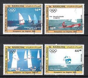 Bateaux-Mauritanie-89-serie-complete-de-4-timbres-obliteres