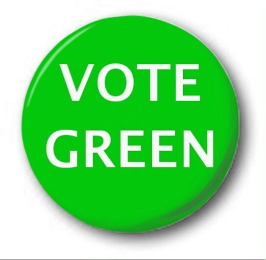 "VOTE GREEN PARTY  - 25mm 1"" Button Badge - Novelty Election Brexit"