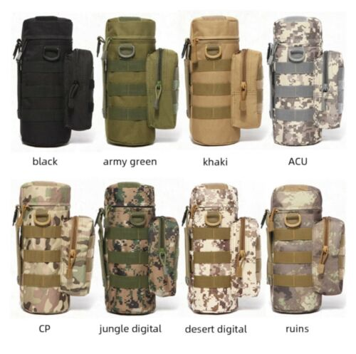 TACTICAL SPORTS WATER BOTTLE CARRIER WITH MATCHING SHOULDER STRAP /& EXTRA POCKET