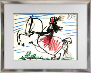 Pablo-PICASSO-Lithograph-LIMITED-Edition-034-10-3-59-XII-034-w-Cat-Ref-C112-FRAME