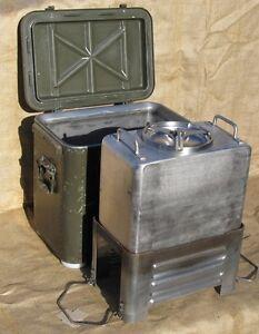 cucina da campo esercito svizzero da lt. 15 in acciaio inox | ebay