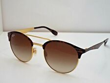 3519f7686b9 RAY-BAN RB3545 9008 13 TORTOISE GOLD w Round Brown Gradient Sunglasses 54mm