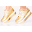 Liliana HIGHLINE-1 Gold Striped Sole Lace Up Athleisure Super Platform Sneaker